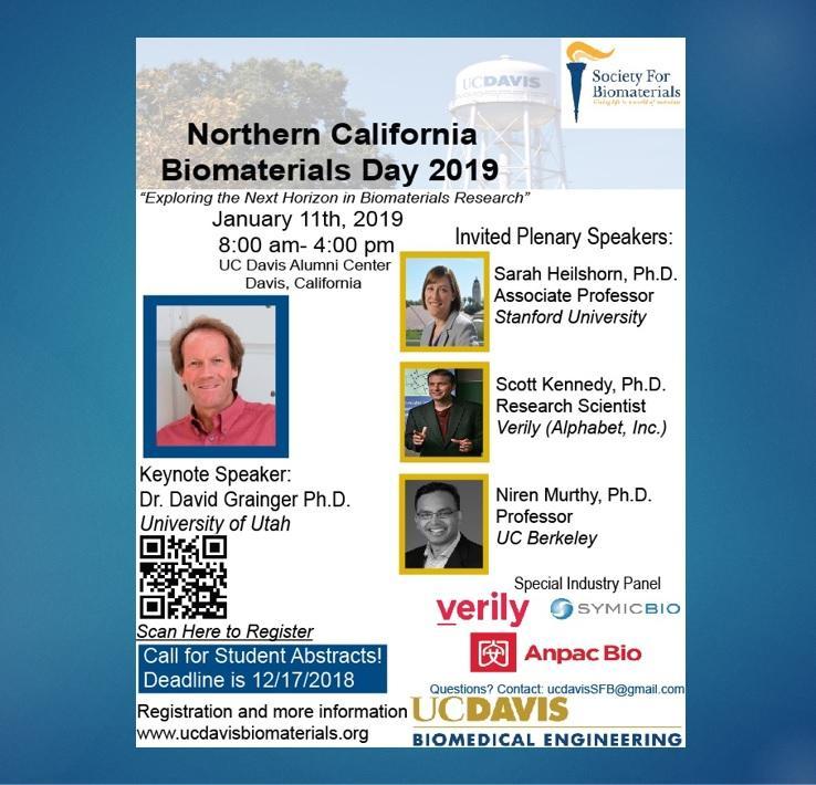 UC Davis Northern California Biomaterials Day 2019